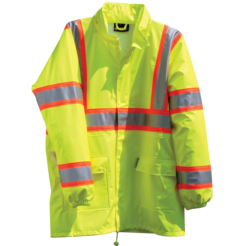 Hi-Vis ANSI 3 DOT Breathable & Stretchable Rain Jacket