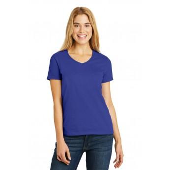 Hanes® Ladies Tagless® 100% Cotton V-Neck T-Shirt
