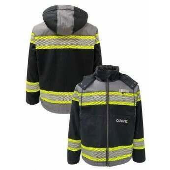 Enhanced Visibility Black Heavy Duty Canvas Sherpa Lined Jacket