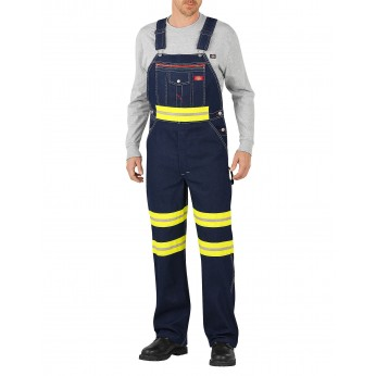 Dickies Non-ANSI Bib Overalls with Yellow Tape