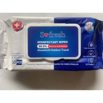 Disinfectant Wipe Towels (Pack of 50)