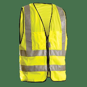 ANSI 2 SURVEYOR'S SAFETY VEST WITH ZIPPER CLOSURE